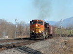 BNSF C44-9W #4737 Brings an eastbound grain train into the yard at Jarales Road